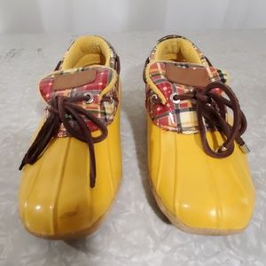 SPERRY TOP - SIDER Yellow Rain Shoes Size 6